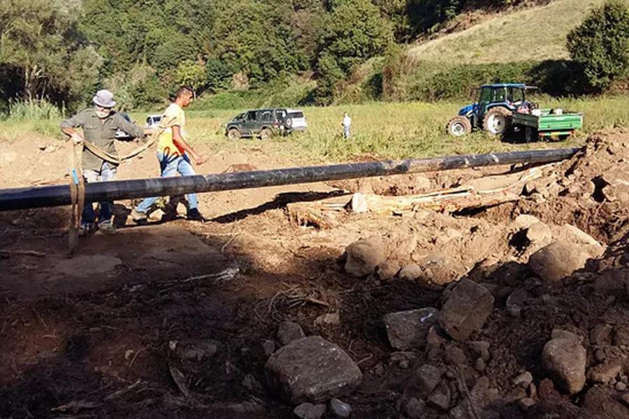 Cortale, cantiere ancora aperto. Polia, frana travolge condotta acquedotto 55 900x600