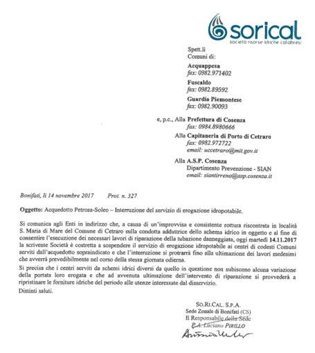 Lavori in corso a Cetraro, carenza idrica a Guardia, Fuscaldo e Acquappesa 02 455x510