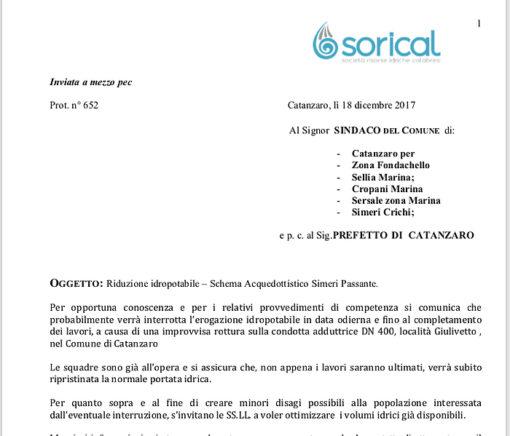 Rottura adduttrice per zona di Catanzaro, Sellia Marina e Cropani Marina, Simeri Crichi e Sersale. Lavori in corso 03 1 510x436