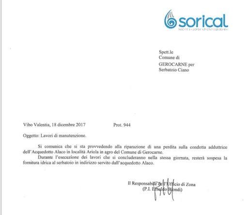 Gerocarne, lavori in corso su condotta Alaco 06 510x443