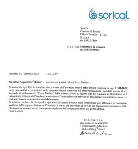 Riattivata l'erogazione pozzi Molina per Scalea 09 472x510