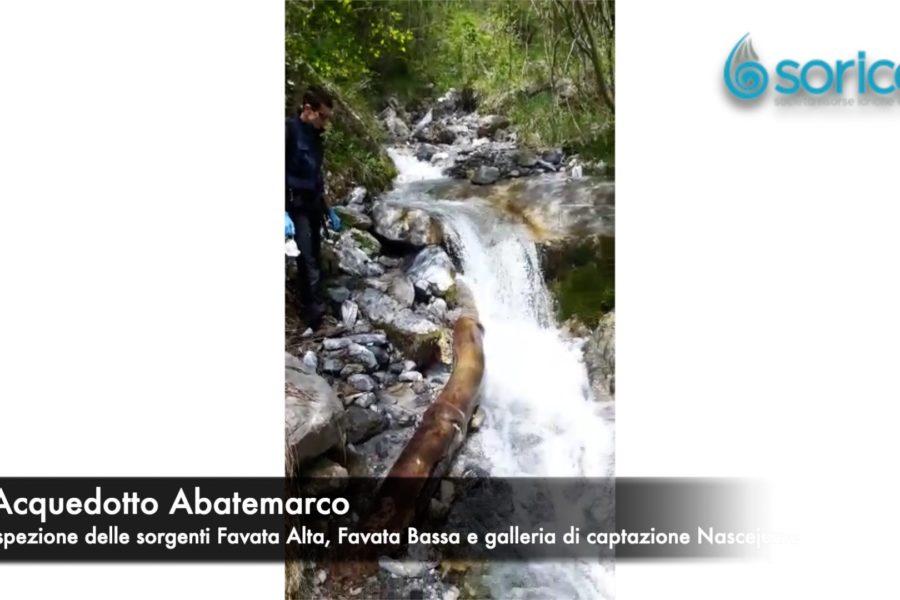 Siccità, ispezionate le sorgenti dell'Abatemarco Favata Alta 900x600