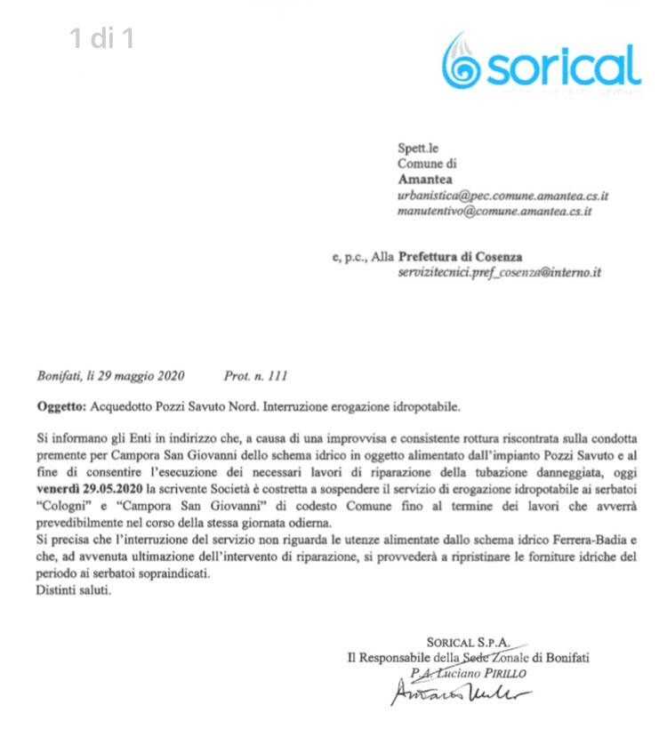 Interruzione servizio ad Amantea, riparazione in corso ⬇️ img 4048
