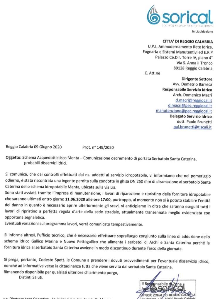 Reggio, riduzione portata serbatoio S.Caterina. Avviate verifiche img 4204
