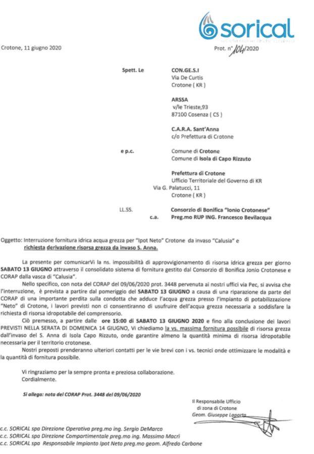 Sabato e domenica riduzione idrica a Crotone img 4217 622x900
