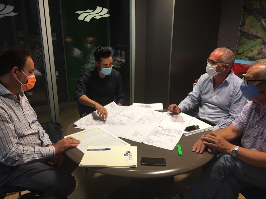 I componenti del tavolo tecnico presso la Sorical  Modificato assetto erogazione su Catanzaro con il monitoraggio di Bm Tecnologie Riunione Catanzaro 900x675