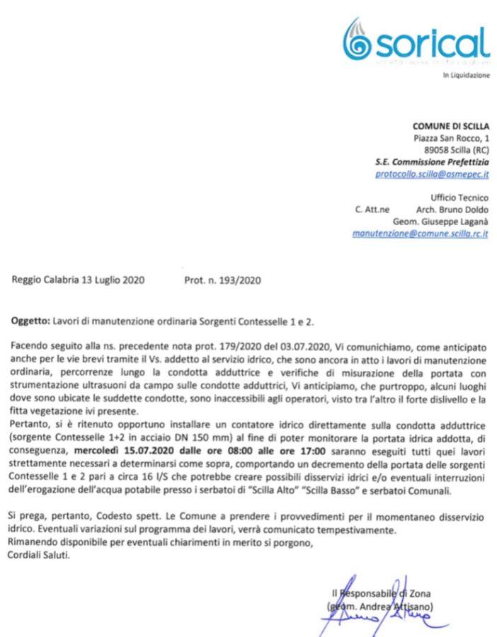 Scilla, mercoledì 15/7, manutenzione alle sorgenti Contesselle image 1 1 702x900