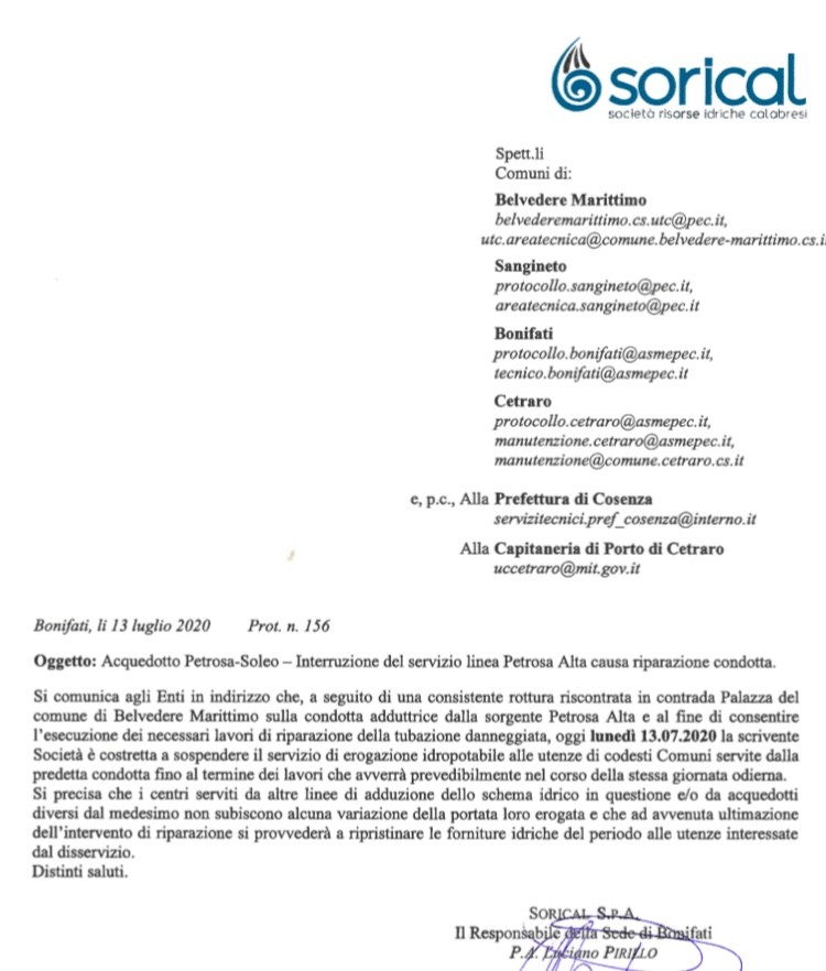 Acquedotto Petrosa/Soleo, interruzione per lavori in corso img 4445