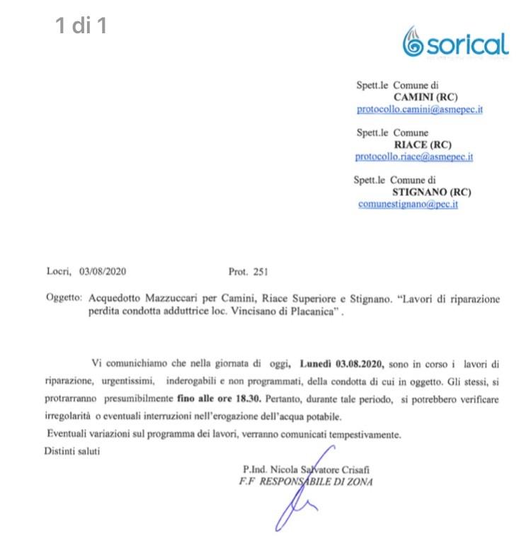 Stignano, Camini e Riace, interruzione per lavori in corso img 4647