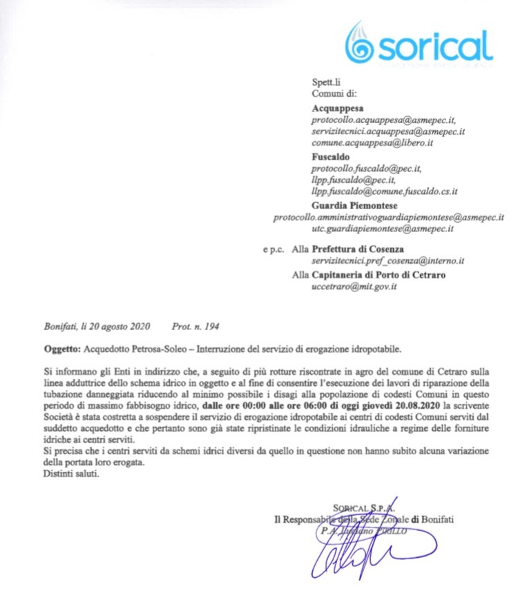 Fuscaldo, Guardia Acquappesa: completato intervento su schema idrico Soleo img 4839