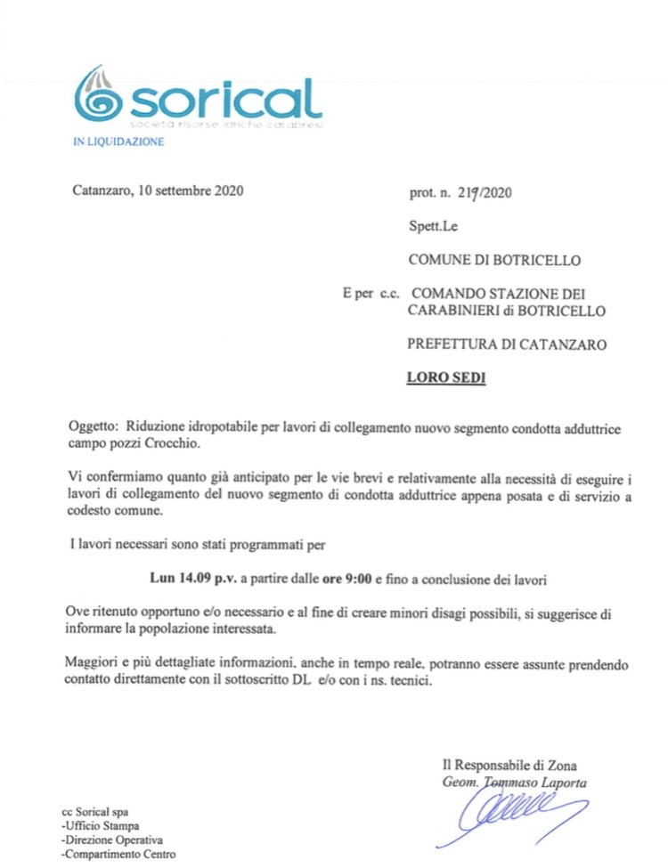 Botricello, lunedì 14 lavori per nuova condotta img 5023