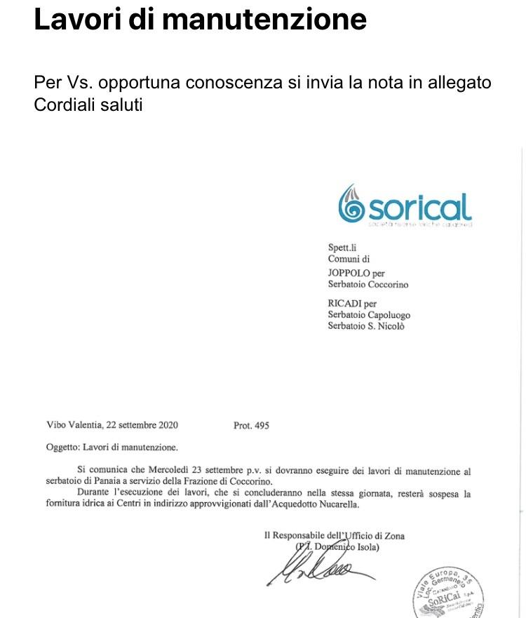 Joppolo e Ricadi, stop erogazione per manutenzione img 5089