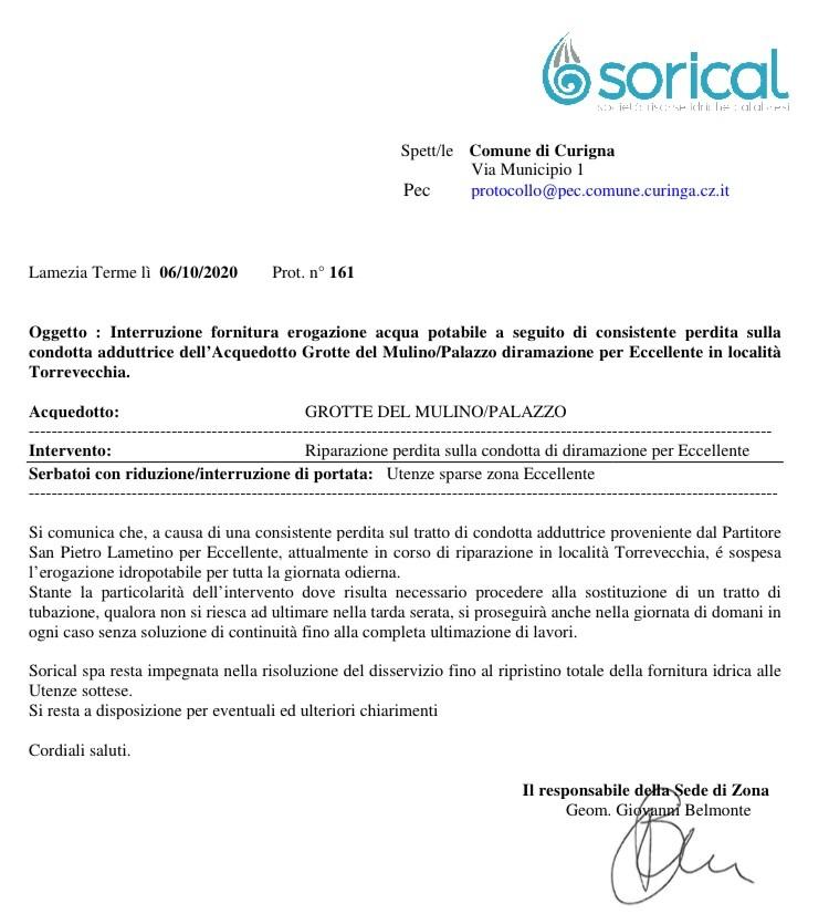 Curinga, interruzione per lavori urgenti img 5174